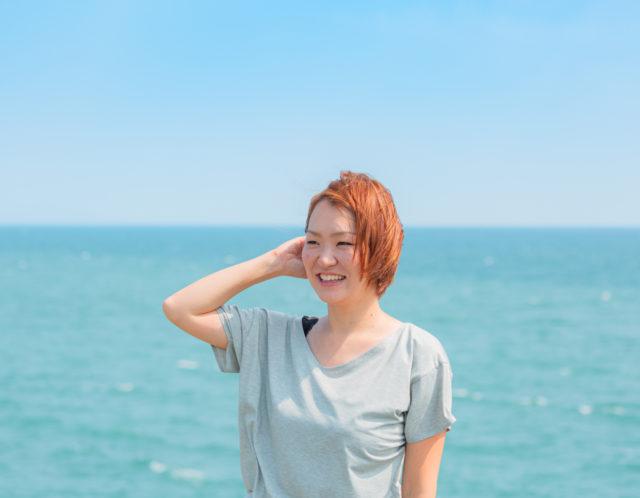 プロフィール撮影in広野海浜公園