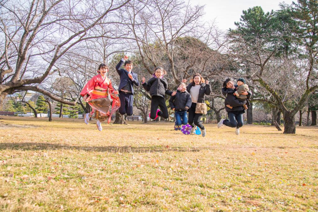 成人式の撮影👘in駿府城