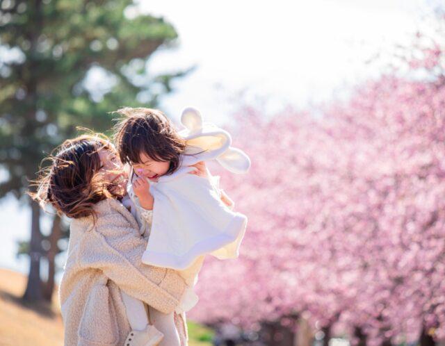 親子で桜の撮影会in朝比奈川